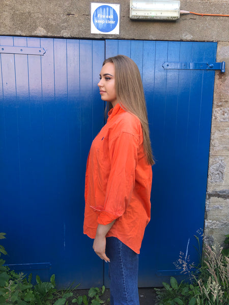 Vintage Ralph Lauren Unisex Oversized Baggy Shirt Orange