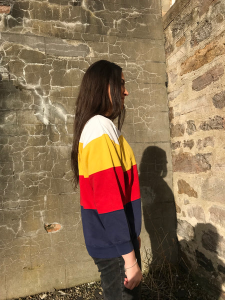 Vintage Colourful Unisex Stripe Jumper
