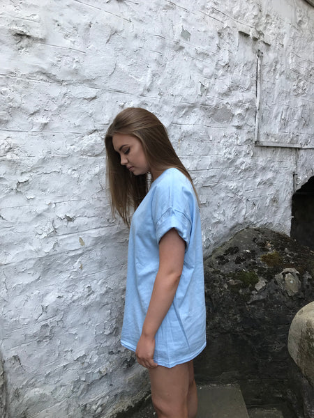 Oversized Baggy Unisex T Shirt Baby Blue