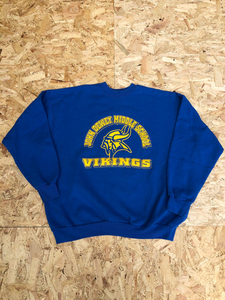 Vintage Unisex Graphic Print USA Sweatshirt / Jumper / Sweater Blue & Yellow