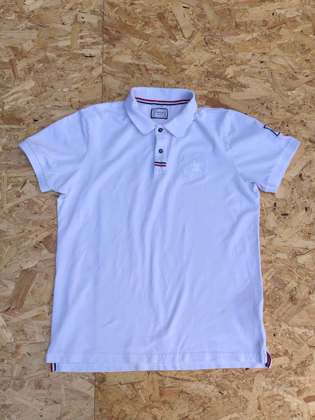 Vintage Moncler Polo Shirt Top / T Shirt White