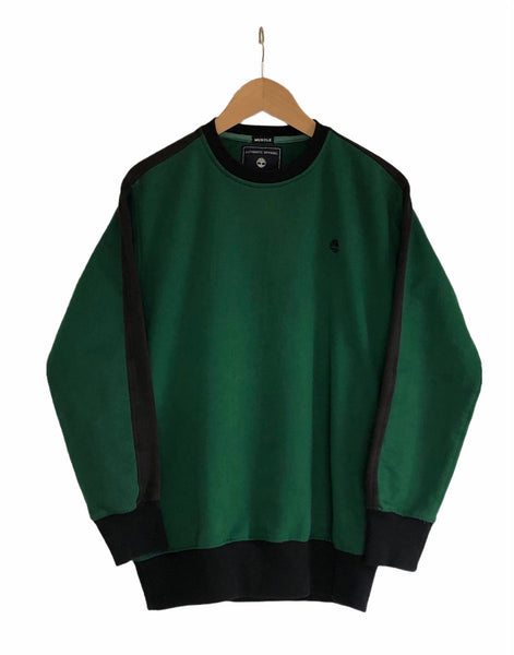Vintage Timberland Oversized Sweatshirt / Sweater / Jumper Green & Black