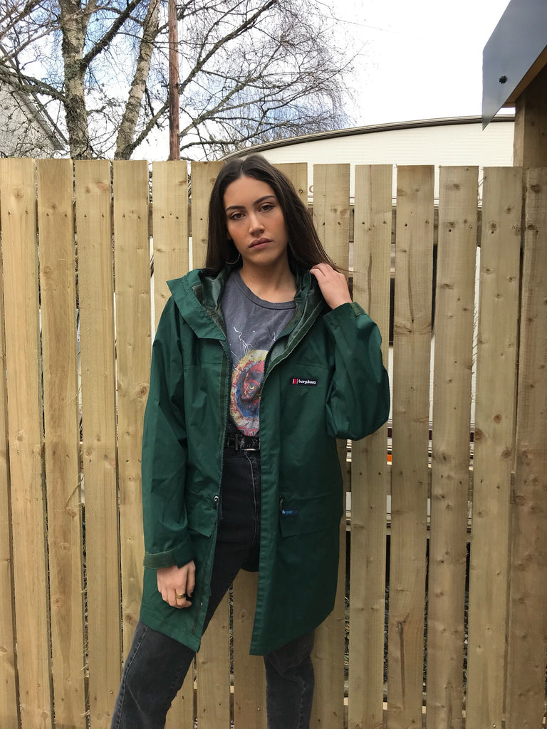 Vintage Berghaus Green Hooded Unisex Jacket