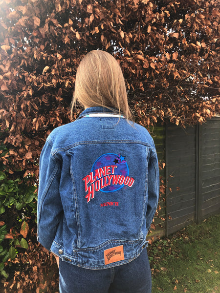 Vintage Planet Hollywood Munich Blue Denim Jacket