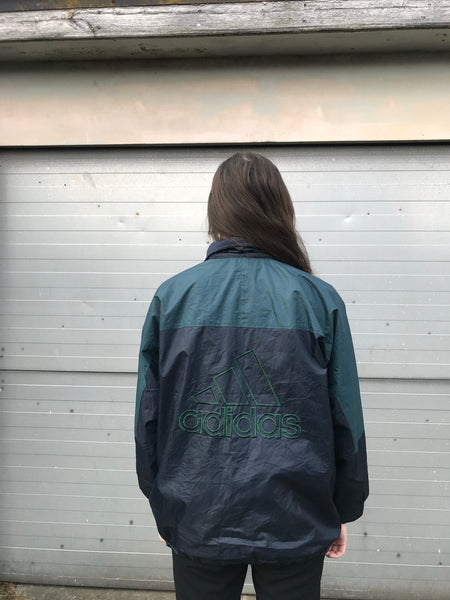 Vintage Adidas Reversible Unisex Windbreaker Shell Jacket