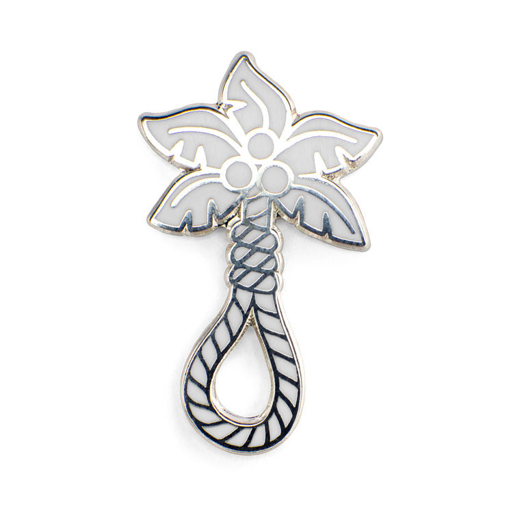ColdToes - Tropical Death Pin (white/silver)