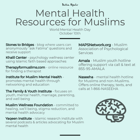 mental health resources for muslims