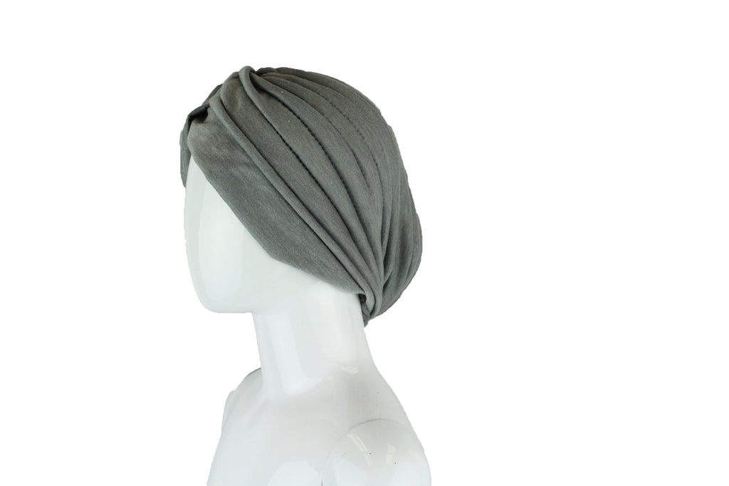 Slip On Turban Wrap - Gray