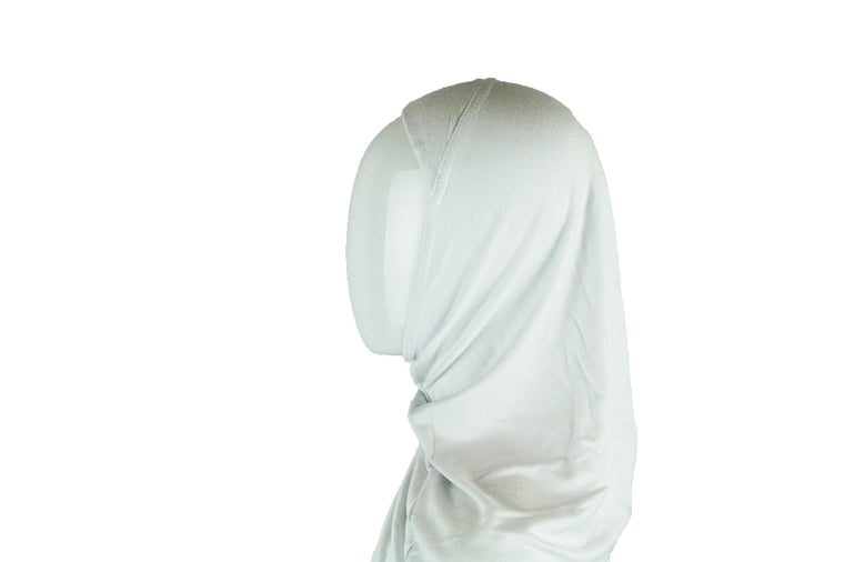 One Piece Slip on Jersey Hijab - White