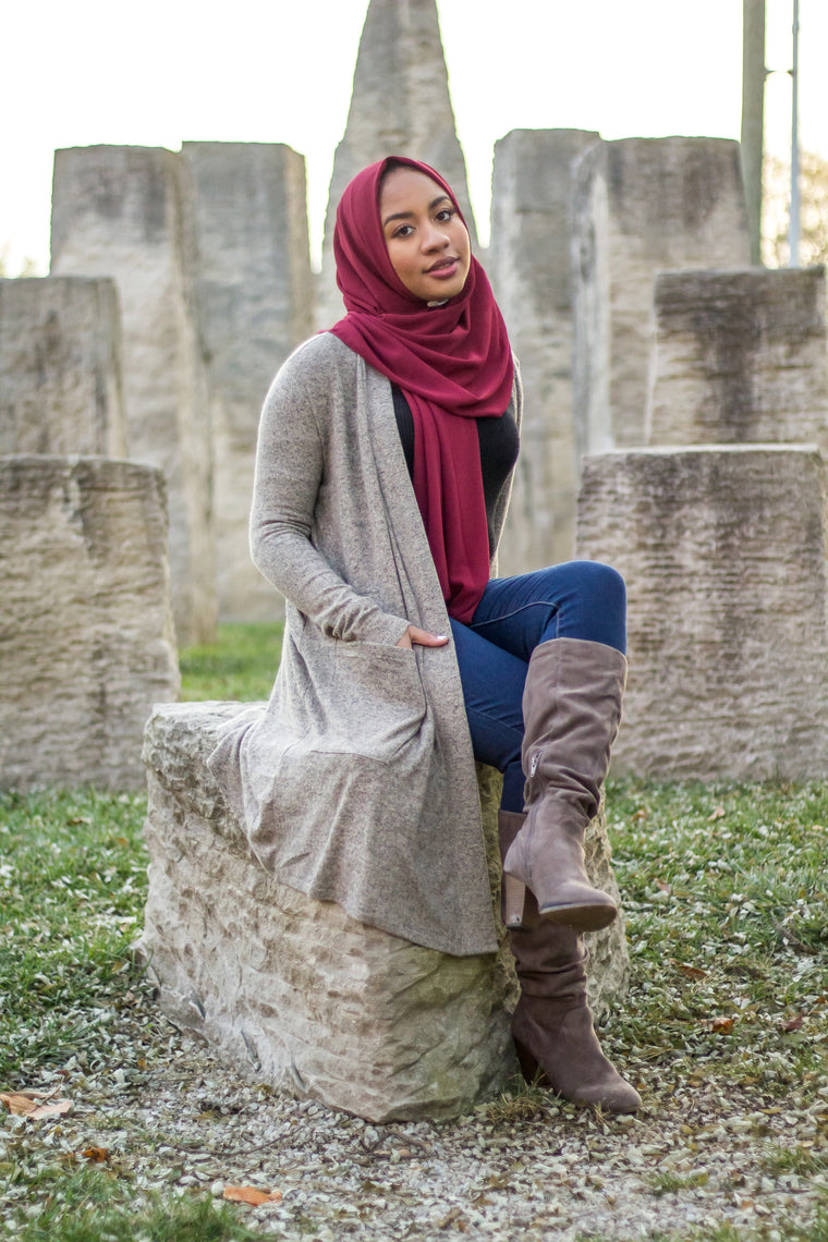 Cardigan with Pockets - Light Taupe