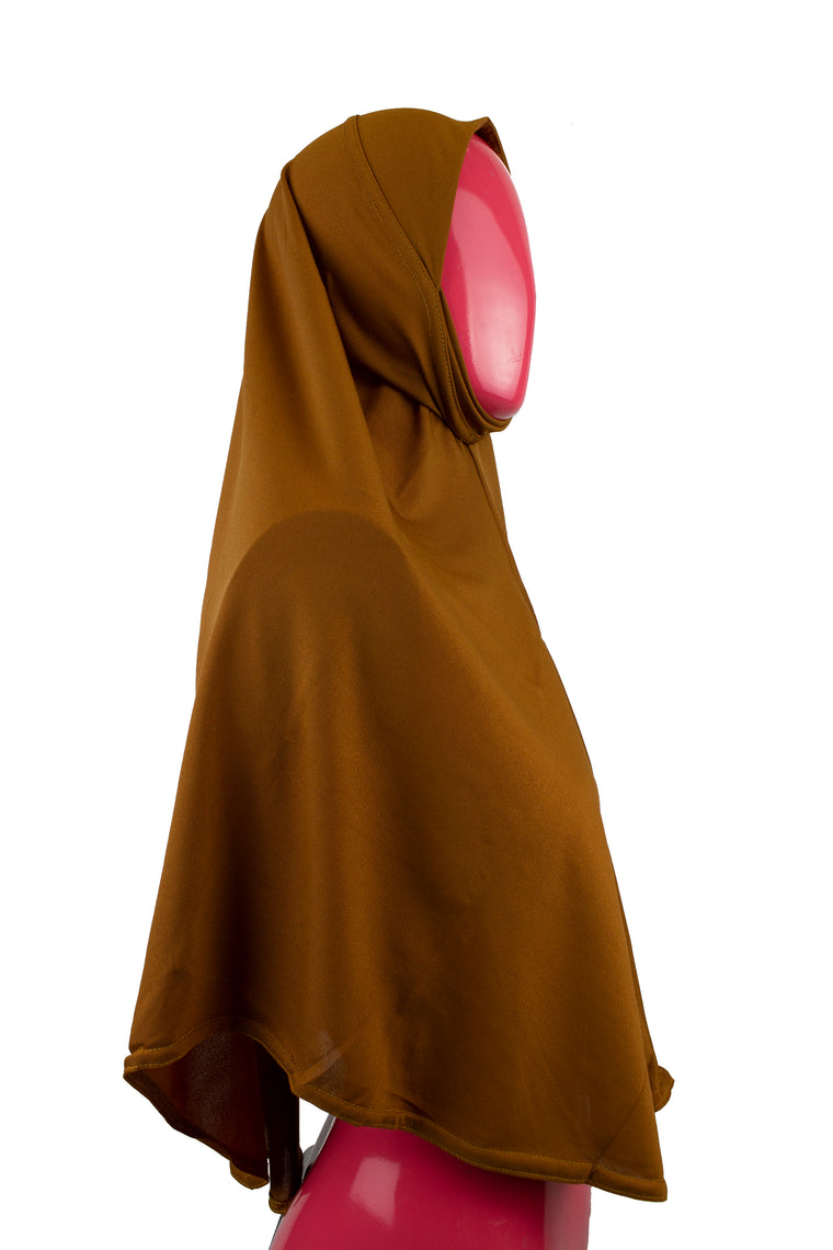 One-Piece Slip-on Khimar - Mocha