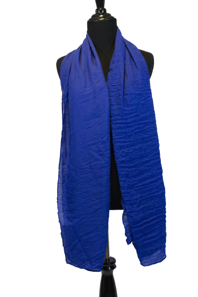 Crinkle Cotton Hijab - Royal Blue