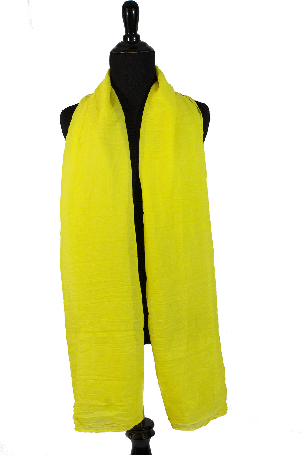 Crinkle Cotton Hijab - Bright Yellow