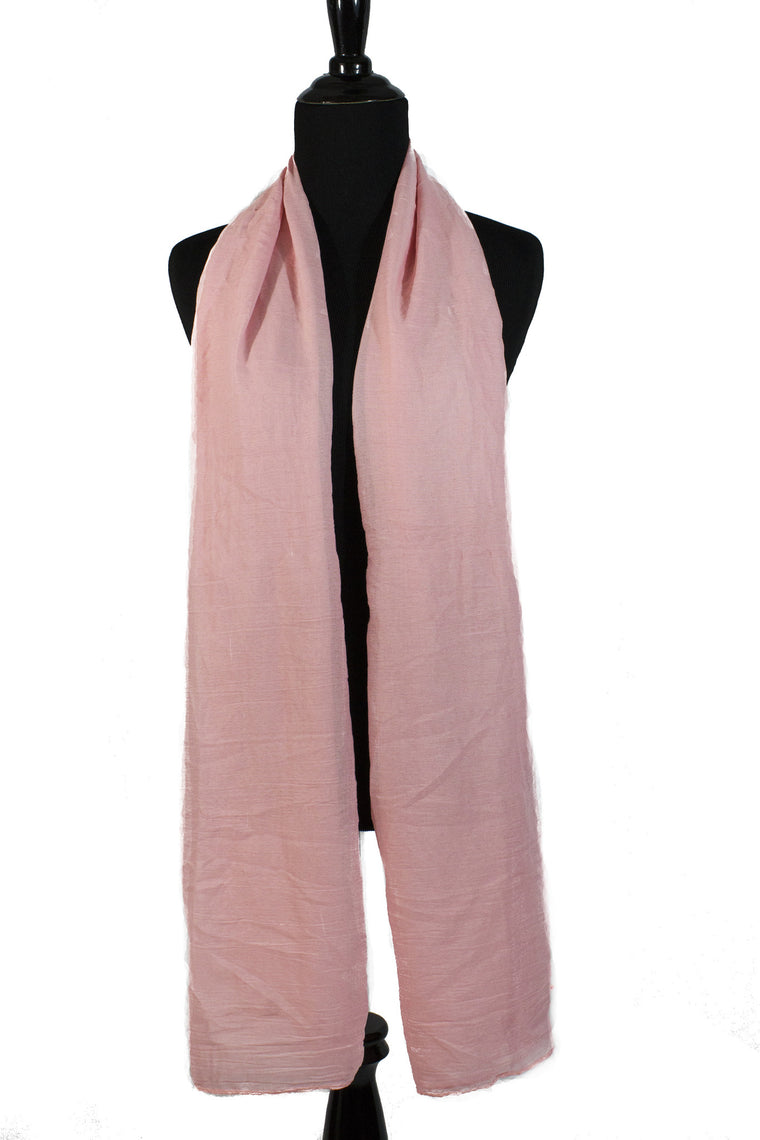 Crinkle Cotton Hijab - Light Pink