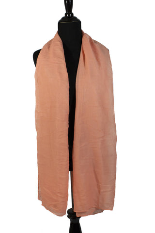 solid salmon colored hijab