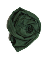 Crinkle Cotton Hijab - Forest Green