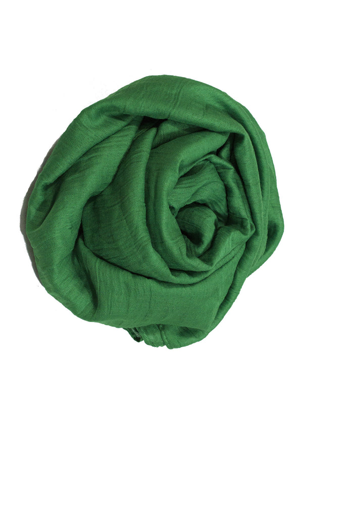 Crinkle Cotton Hijab - Green