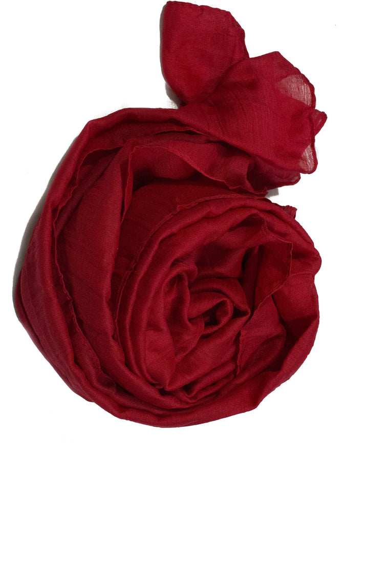 Crinkle Cotton Hijab - Red