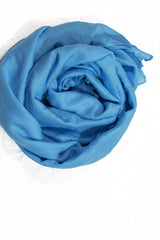 Crinkle Cotton Hijab - Sky Blue