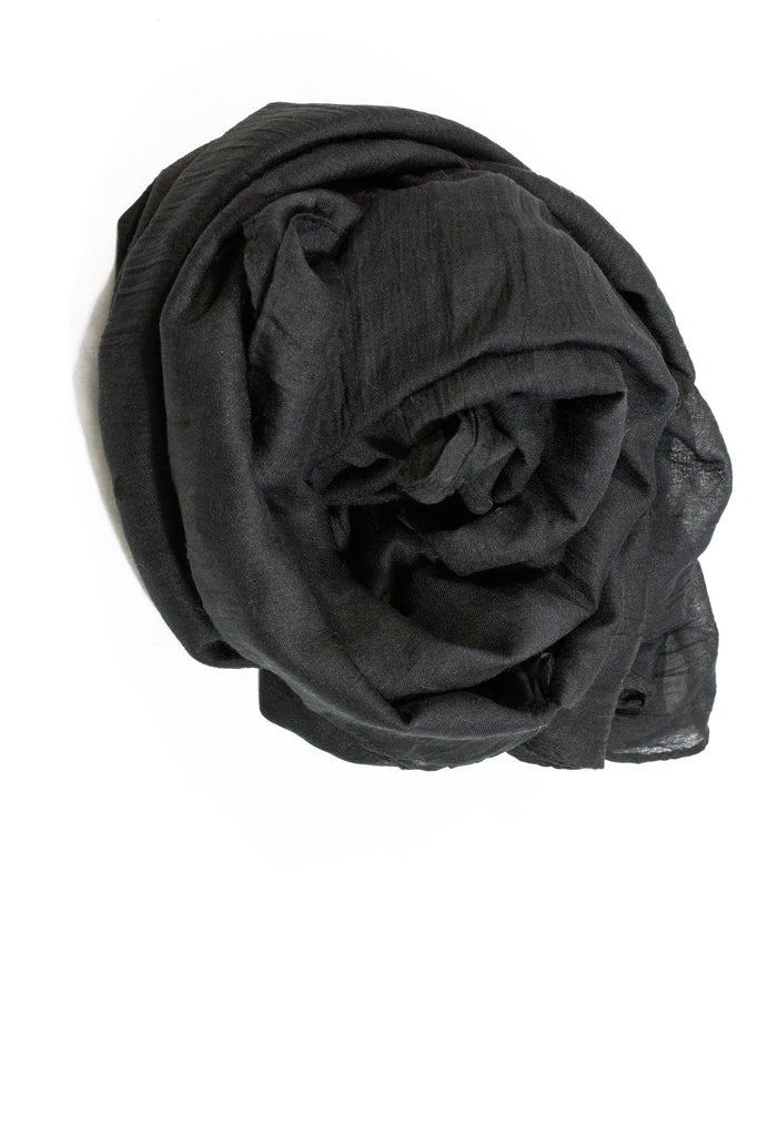 Crinkle Cotton Hijab - Black
