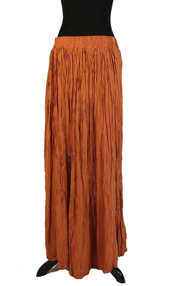 Pleated Maxi Skirt - Amber