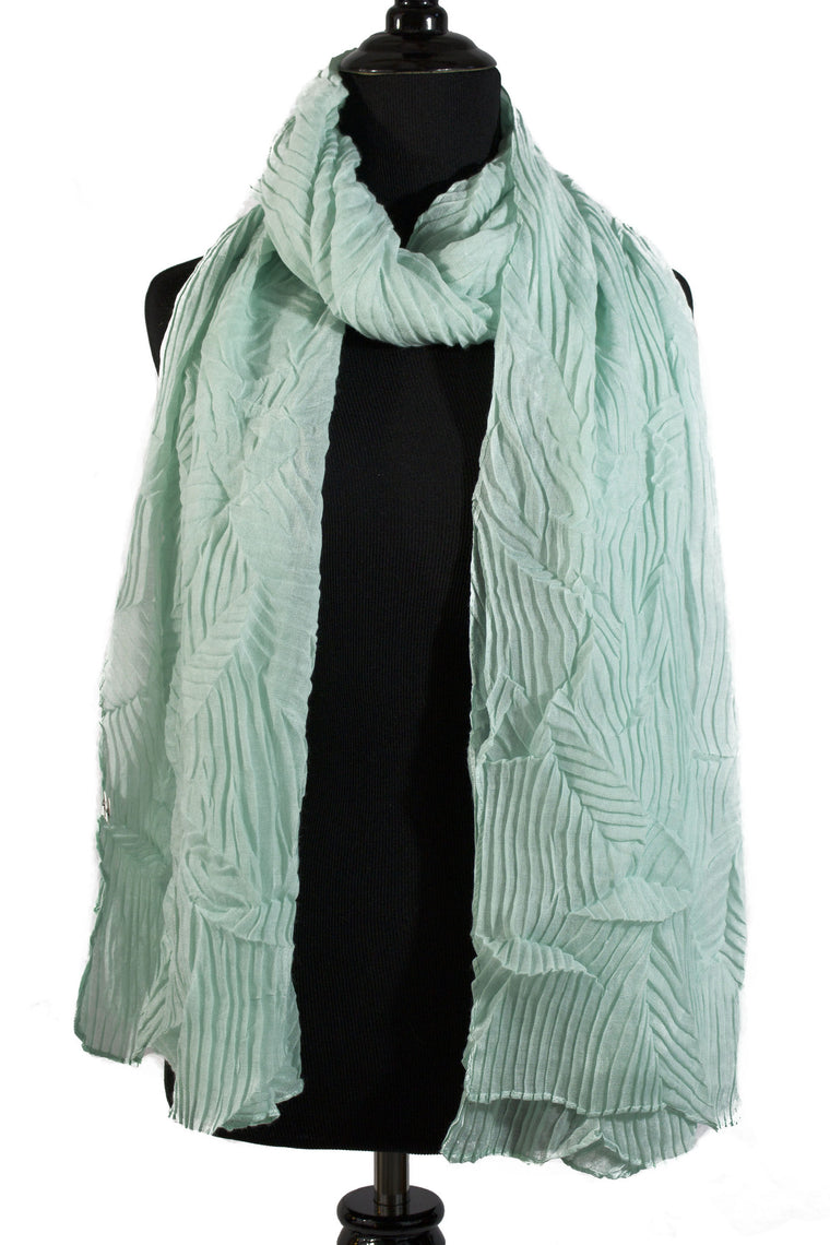 Pleated Hijab - Mint
