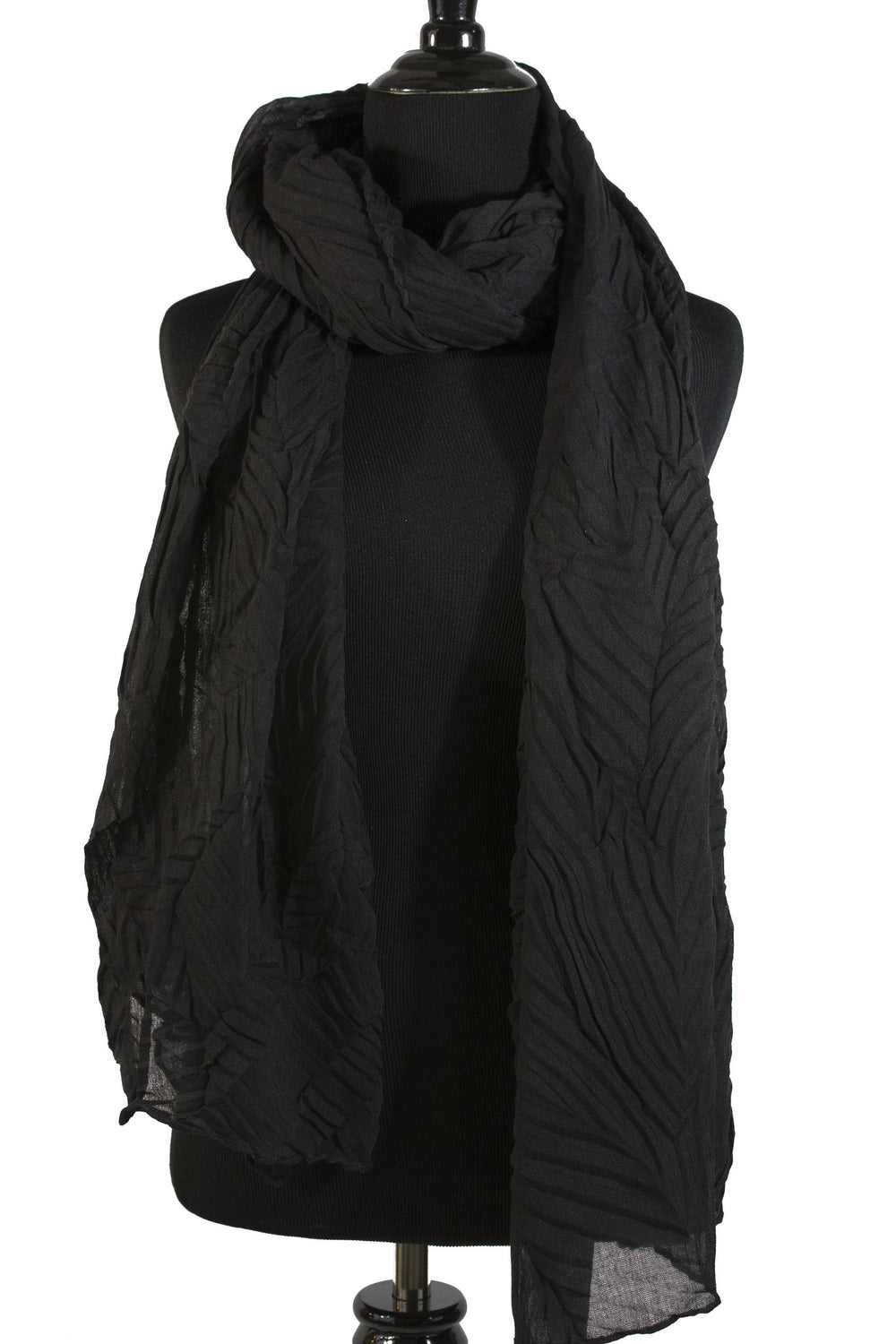 Pleated Hijab - Black