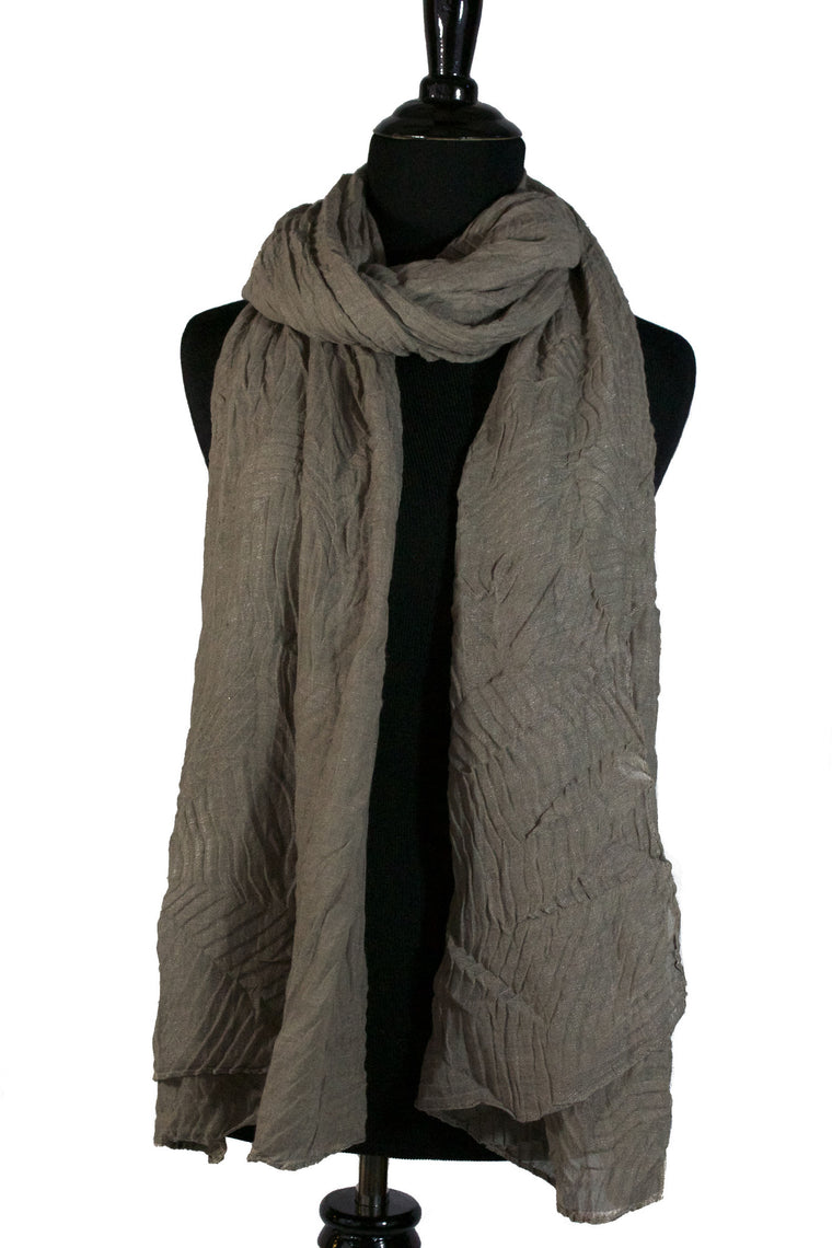 Pleated Hijab - Taupe