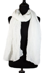 Pleated Hijab - White