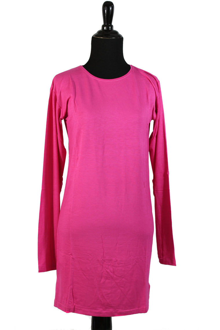 Extra Long Sleeve Basic Top - Pink