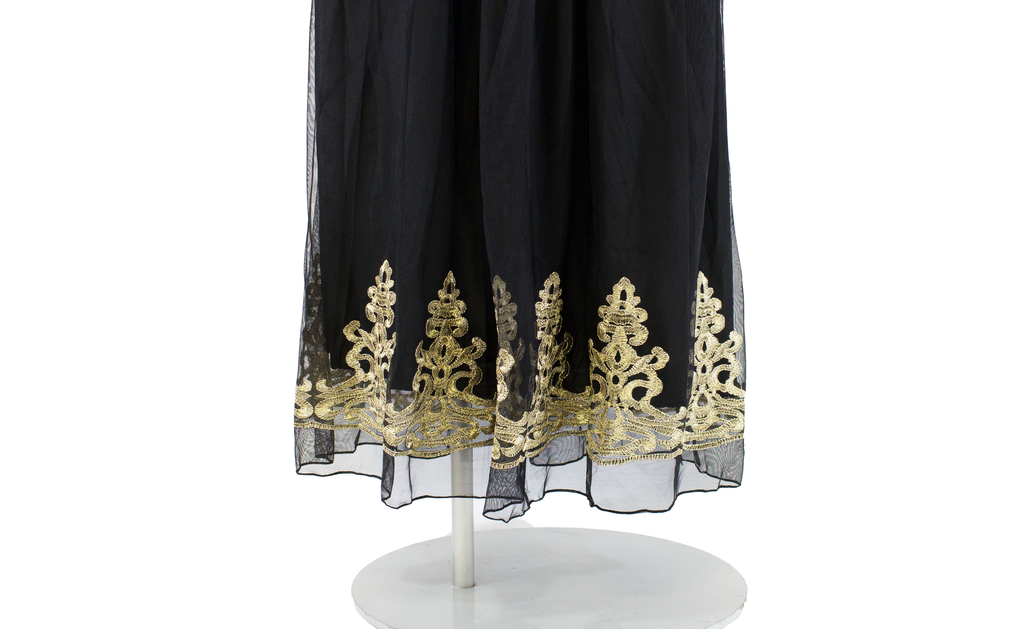 Royal Gold Embroidery Dress