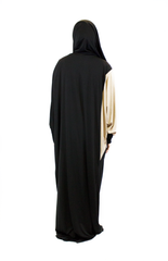 One-Piece Abaya w/ Attached Hijab - Black