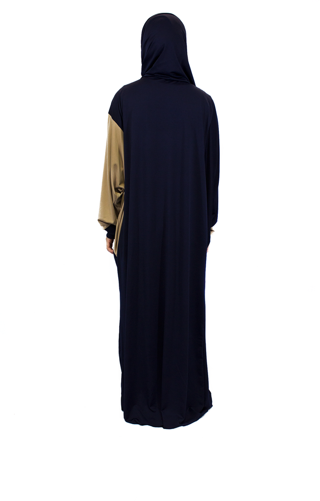 One-Piece Abaya w/ Attached Hijab - Blue