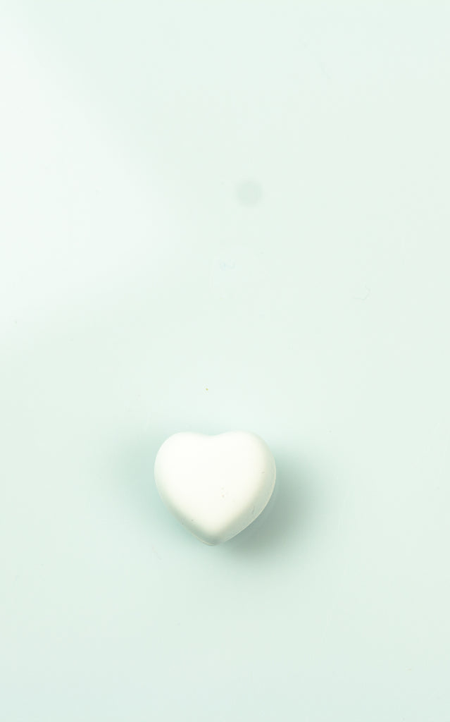 Matte Magnetic Heart Pin - White