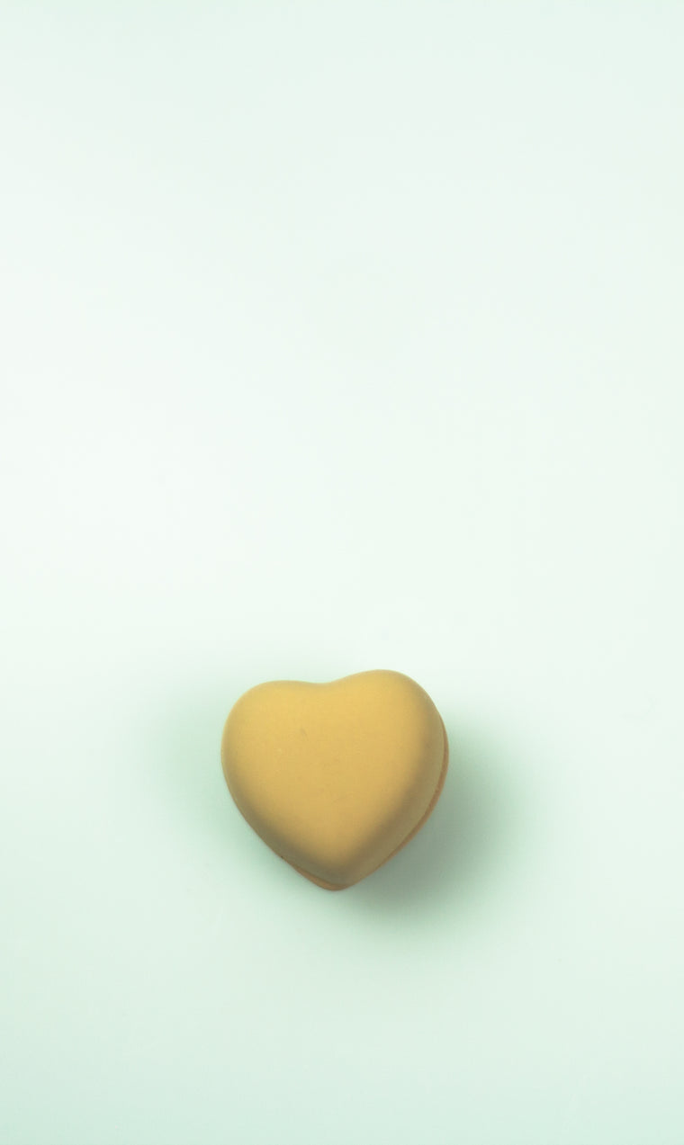 Matte Magnetic Heart Pin - Ivory