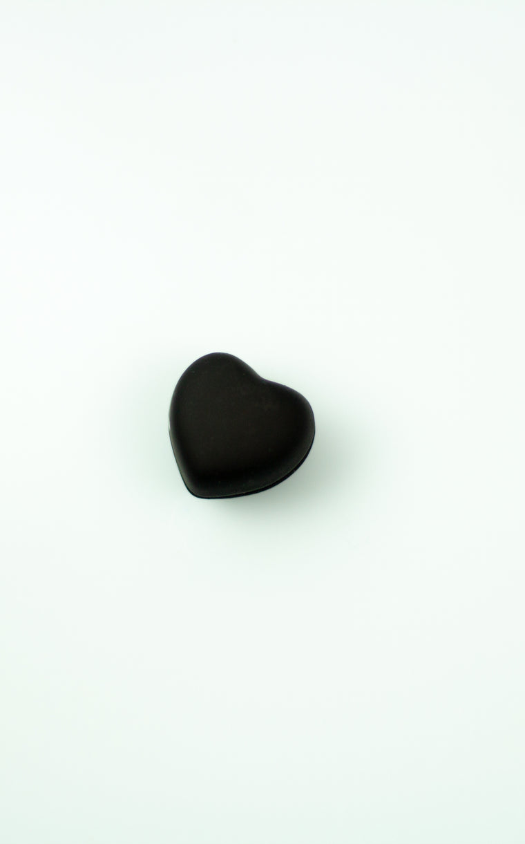 Matte Magnetic Heart Pin - Black