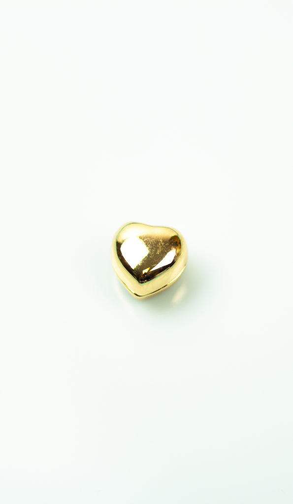 Glossed Magnetic Heart Pin - Gold