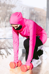 Attivo Hooded Workout Top - Pink