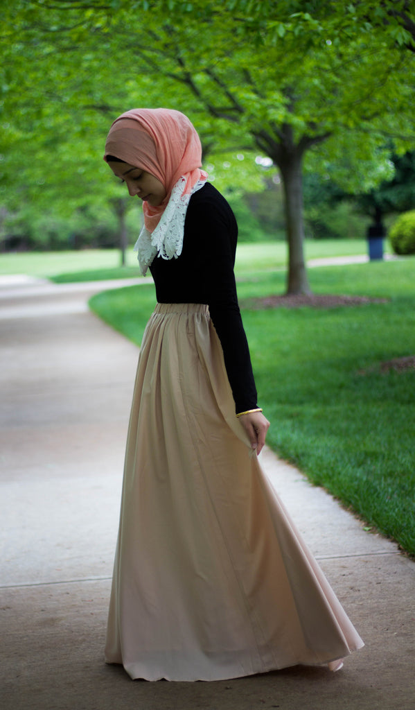High-Waisted Maxi Skirt - Ivory