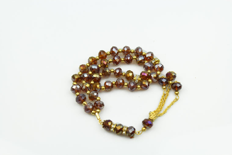 Tasbeeh with gold chain (33 beads) - Copper