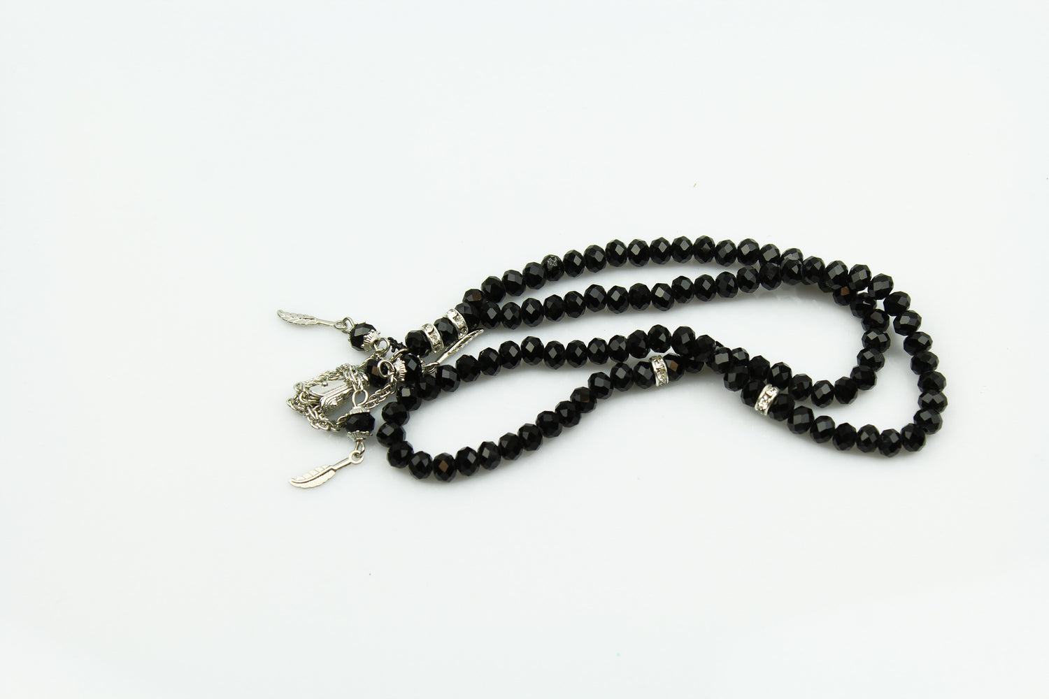 Crystal Tasbeeh (99 beads) - Black