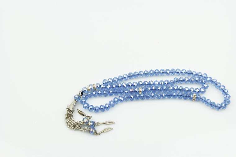 Crystal Tasbeeh (99 beads) - Light Blue