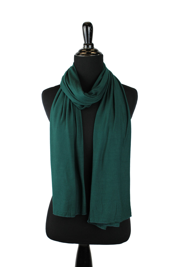 jersey hijab in dark forest green