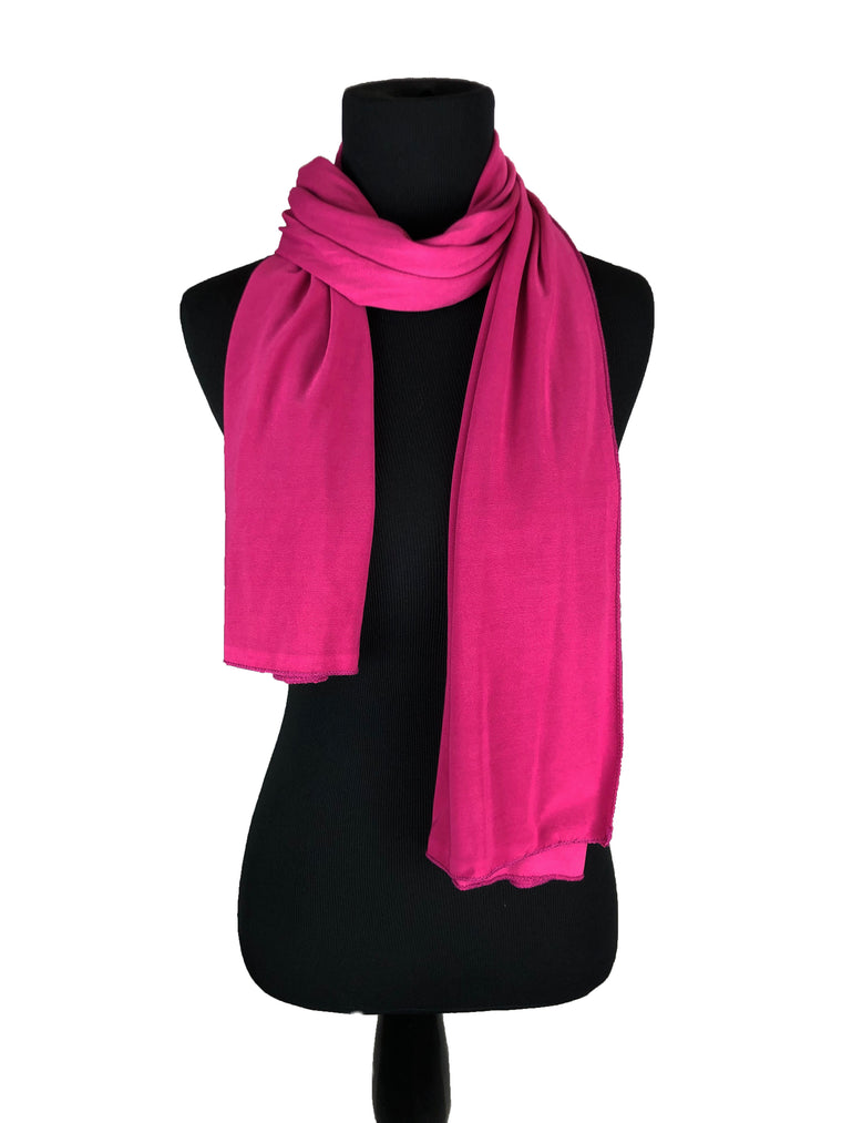 Lycra Hijab Wrap - Hot Pink