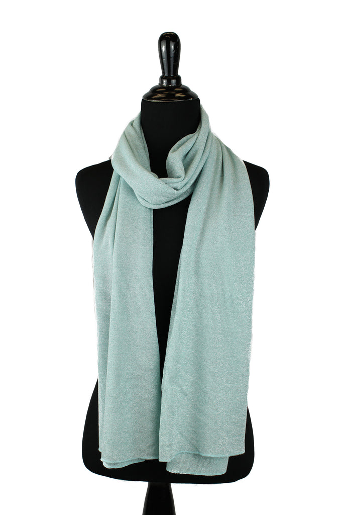 teal shimmer jersey hijab