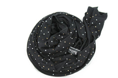 black jersey hijab embellished with pearls