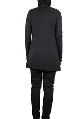 Open Front Cardigan with Pockets - Black