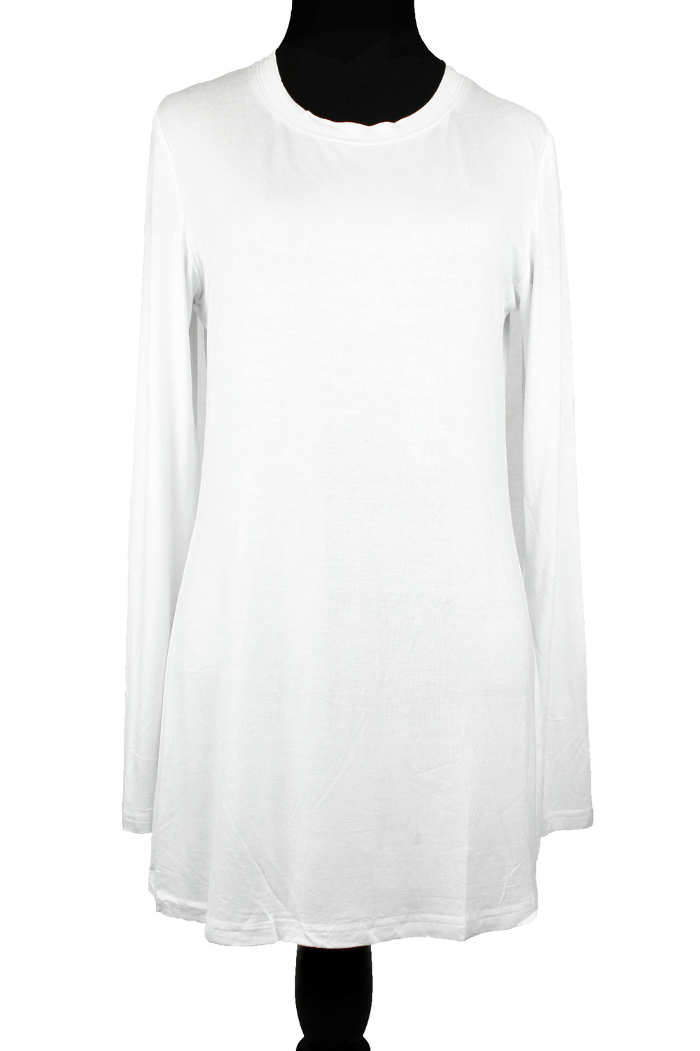 Long Sleeve Basic Top - White