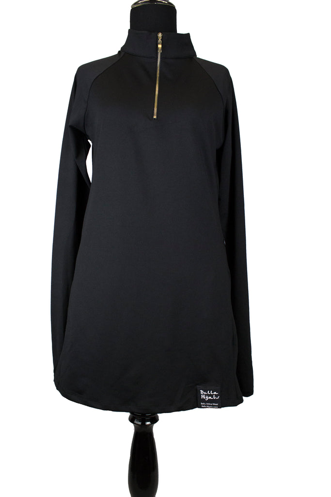 Attivo Half-Zip Workout Top - Black