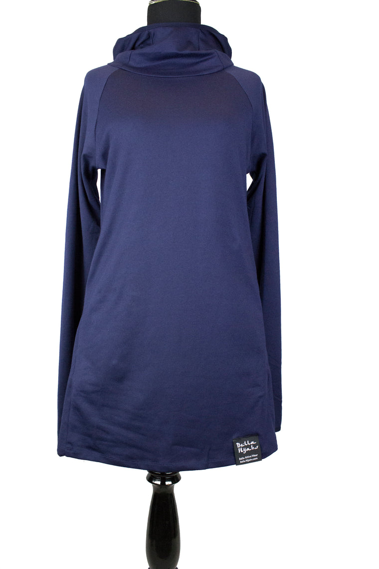Attivo Hooded Workout Top - Navy